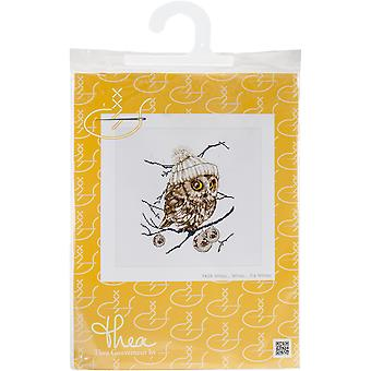 Whoo...Who... It's Winter On Aida Counted Cross Stitch Kit-12.25
