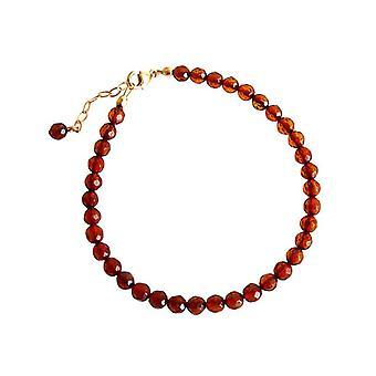 Amber amber edelsteen armband Oranje armband verguld