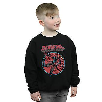Marvel Boys Deadpool Flying Sweatshirt