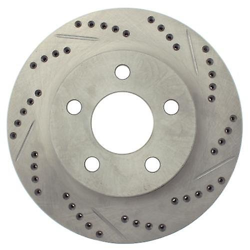 StopTech 227.62049L Select Sport Drilled and Slotted Brake rougeor; Rear Left