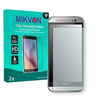 HTC One M8t TD-LTE Screen Protector - Mikvon Clear (Retail Package with accessories)