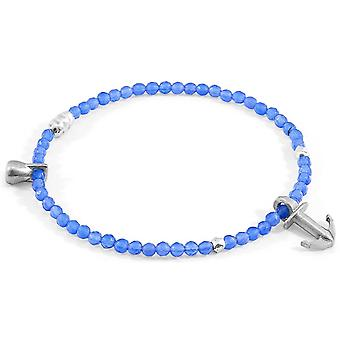 Anchor and Crew Tropic Agate Silver and Stone Bracelet - Blue