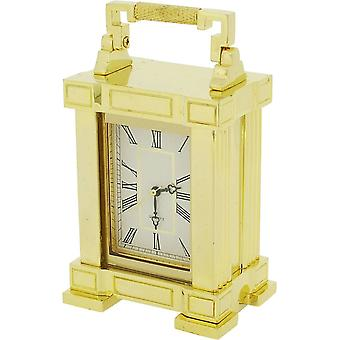 Gift Time Products French Mantel Miniature Clock with Handle - Gold