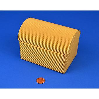 10 Corrugated Brown Recycled Kraft Card Treasure Chests - Large