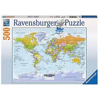 Ravensburger puzzel Wereldkaart 500pc