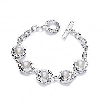 Cavendish Franse zilver en Pearl nesten armband