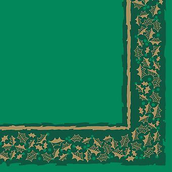 Green Twelfth Night Christmas Napkins 3 ply 40cm