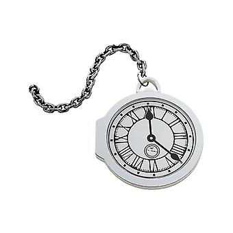 Oversized Pocket Watch, White, EVA