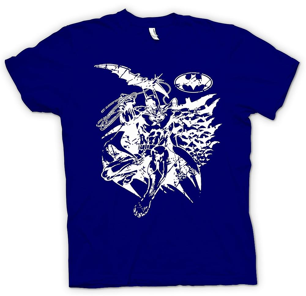 Heren T-shirt-Batman vleermuizen Caped - Crusader - BW