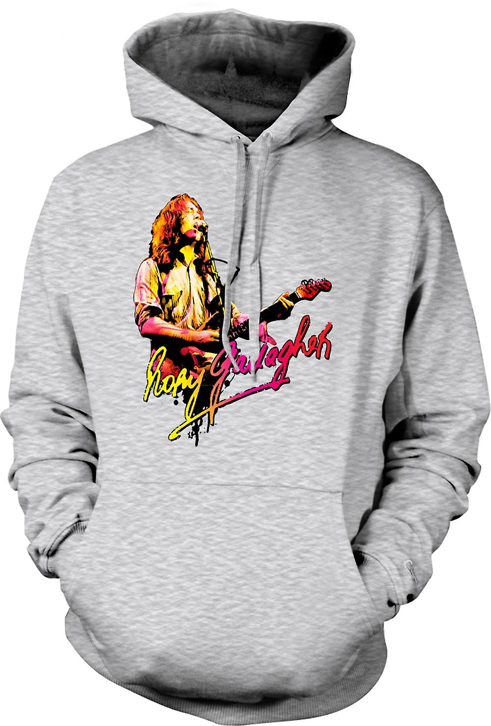 Mens Hoodie - Rory Gallagher - Blues God - Rock Music