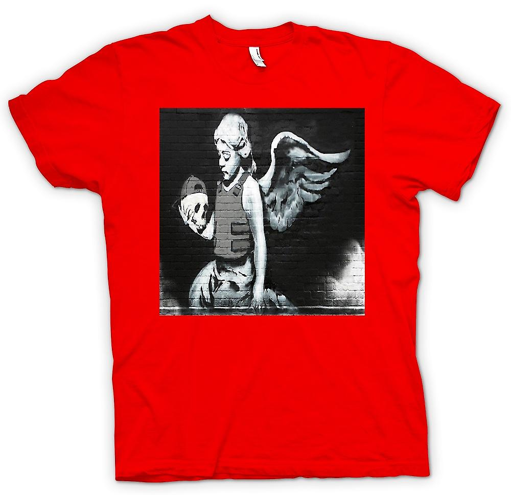Mens t-shirt - Banksy Angel - decorazione murale
