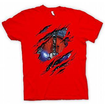 Womens T-shirt - Optimus Prime Ripped Design - Transformers Inspired