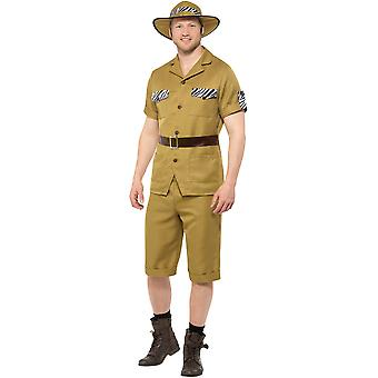 Wild animal Safari costume men's Carnival hunters Africa