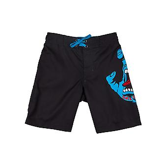 Santa Cruz Black SP17 Screaming Hand Kids Boardshorts