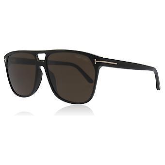 Tom Ford FT0679 01E Shiny Black Shelton Square Sunglasses Lens Category 3 Size 59mm