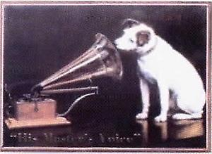 His Masters Voice Steel Sign