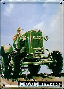 MAN Tractor metal postcard / mini-sign