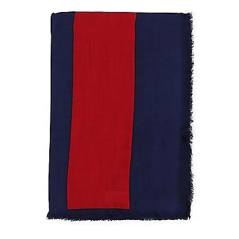 Gucci Blue/red Modal Scarf