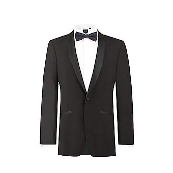 Doball Boys zwarte smoking Dinner Jacket reguliere Fit omslagdoek revers
