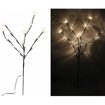 2 Rustic Twig Lights 45Cm With Battery Operated White Led Light 10 Bulb - (XA4810D)