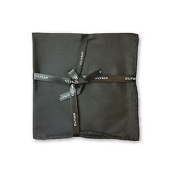 Olymp Pocket Square in black sharkskin pattern