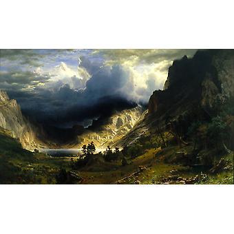 A Storm i t han Rocky Mountains, Mt, Albert Bierstadt, 60x35cm