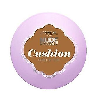 2 x L'Oreal Paris Nude Magique Cushion Foundation 14.6g - 11 Golden Amber