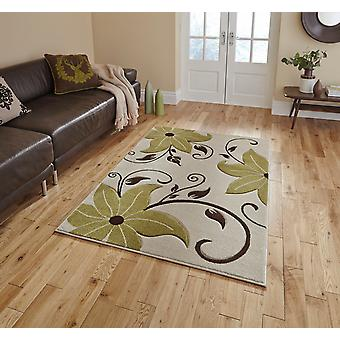 Verona OC15 Beige Green  Rectangle Rugs Modern Rugs