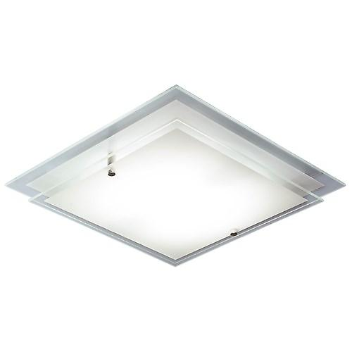 Dar FRA472 Frame Square Glass Halogen Wall Or Ceiling Flush Light