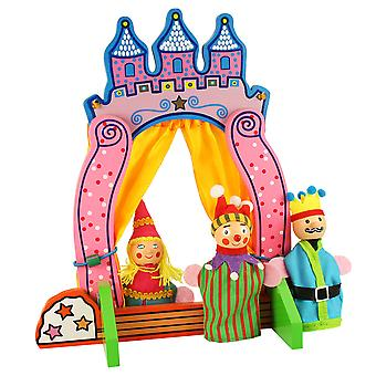 Bigjigs Toys Wooden Finger Puppet Theatre Play Set Toy Stage