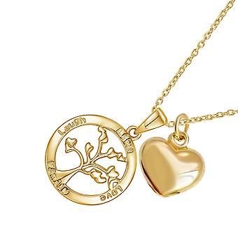 Sreema London 925 Sterling Silver Tree Of Life Necklace & Heart