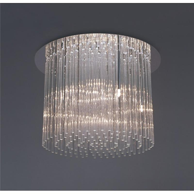 Zanthe Ceiling Round 10 lumière G9 Polished Chrome clear Glass