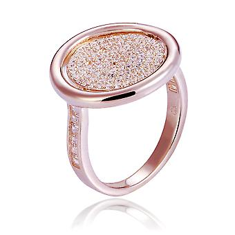Orphelia Silver 925 Ring Rose Réversible avec fleur et zirconium ZR-7444