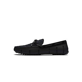 Swims Swims Black Woven Lace Loafer