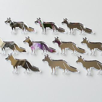 Fox permanent Craft Mini taille miroirs acryliques (10Pk)