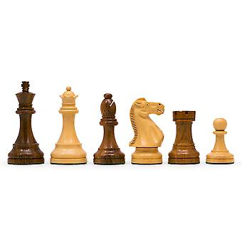 Broadbase Club Staunton 3.75 inch Teak Chess Men