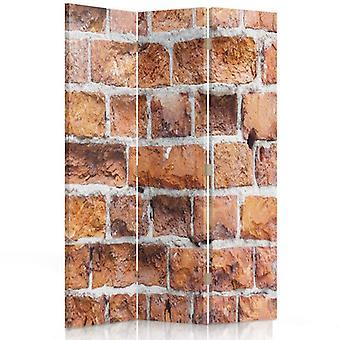 Room Divider, 3 Panels, Single-Sided, Canvas, Brick Wall 2